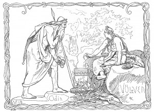 """""""Odin and the Volva"""" by Lorenz Frolich"""