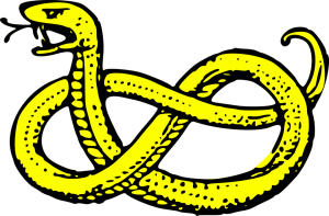 16241-illustration-of-a-yellow-snake-pv