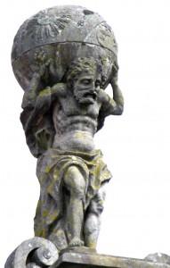 Sculpture of Atlas, Praza do Toural, Santiago de Compostela. Source WikiCommons