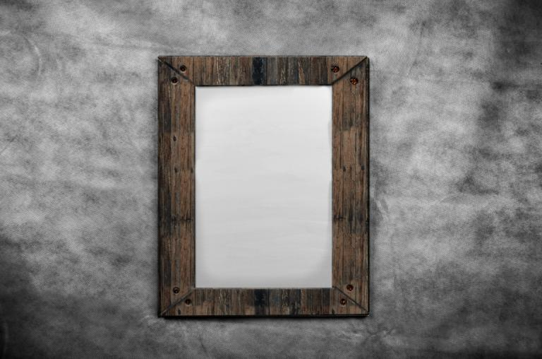 blank-canvas-in-old-wooden-frames