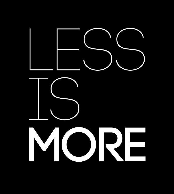 less-is-more-poster-black-naxart-studio