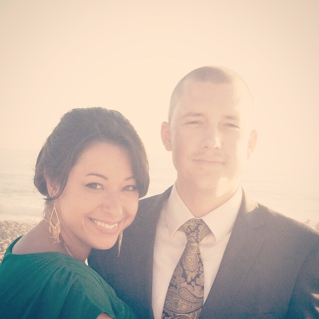 Ben and I at his cousin's wedding last summer.