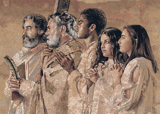 Communion Of Saints Painting