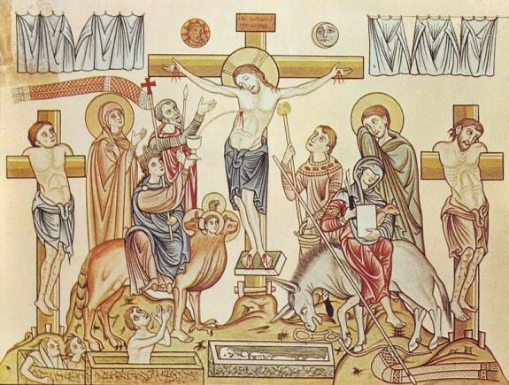 Hortus_Deliciarum,_Die_Kreuzigung_Jesu_Christi