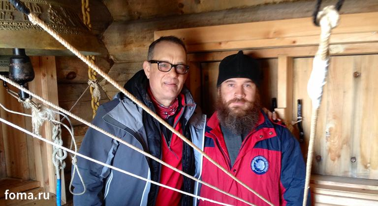 Tom Hanks and a Deacon, Just Hanging Out at the South Pole