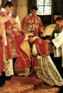 Ordination of a priest. Courtesy Wikimedia commons.