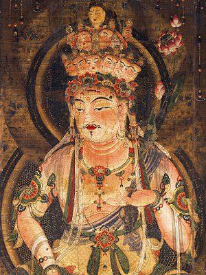 11-Headed Kannon. Via Wikimedia Commons (https://commons.m.wikimedia.org/wiki/File:Eleven-faced_Goddess_of_Mercy_edit.jpg)