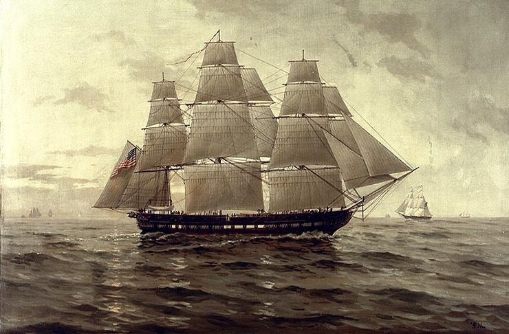 The Chesapeake. Painting by Painting by F. Muller. Public domain, via Wikimedia Commons.