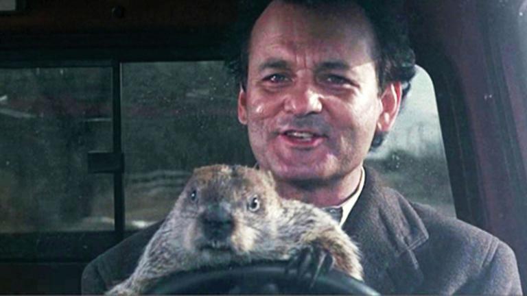 Still from Groundhog Day, via Breck Film Fest. Fiar use.