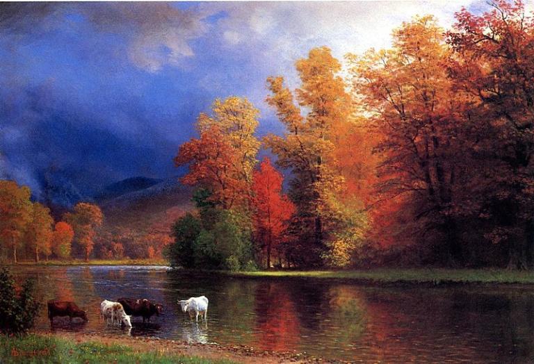"""On the Saco"", Albert Bierstadt. Image via Wikimedia Commons, public domain"