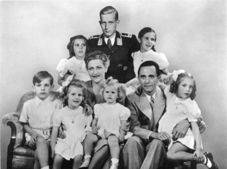 Goebbels family. Bundesarchiv, Bild 146-1978-086-03 / CC-BY-SA 3.0 via Wikimedia Commons