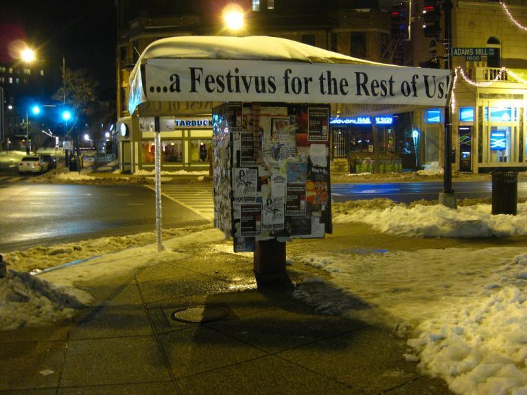 Adams Morgan Festivus kiosk, photo by Rudi Riet, CC-BY-2.0