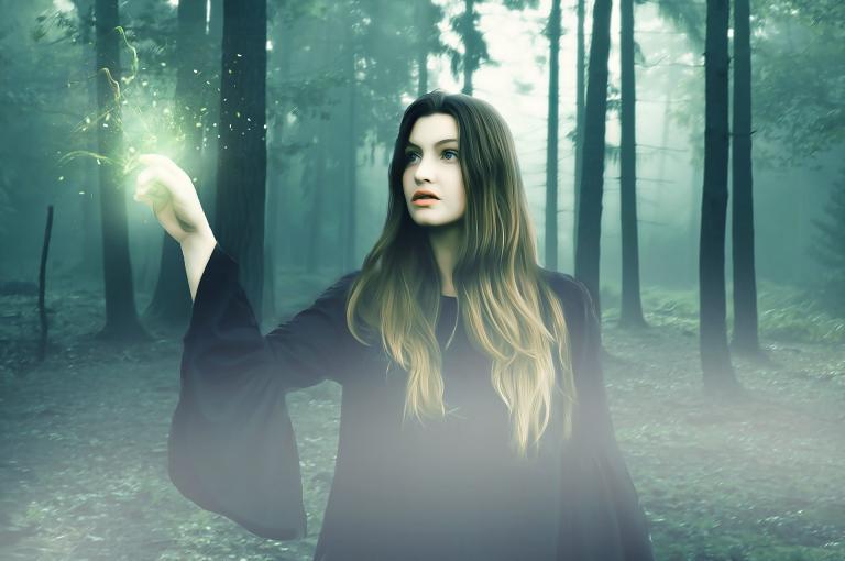 magical woman photo