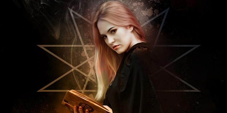 stock image of magical woman / witch