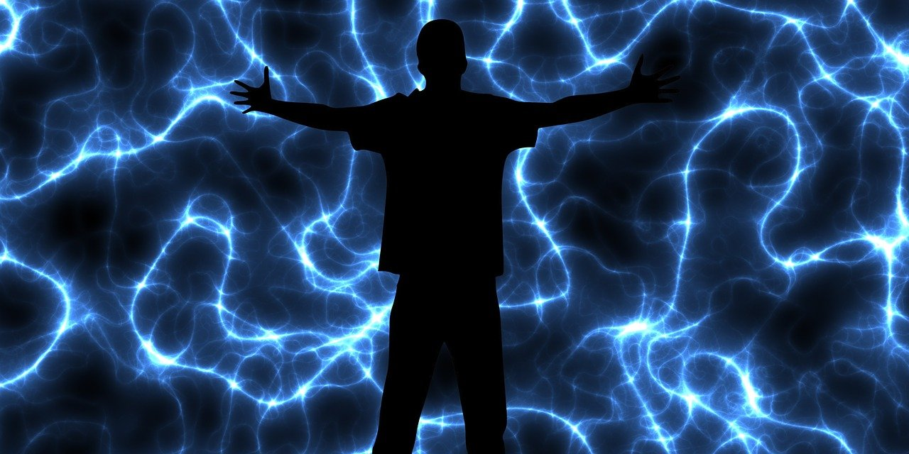 magical energy illustrated by person and lightning