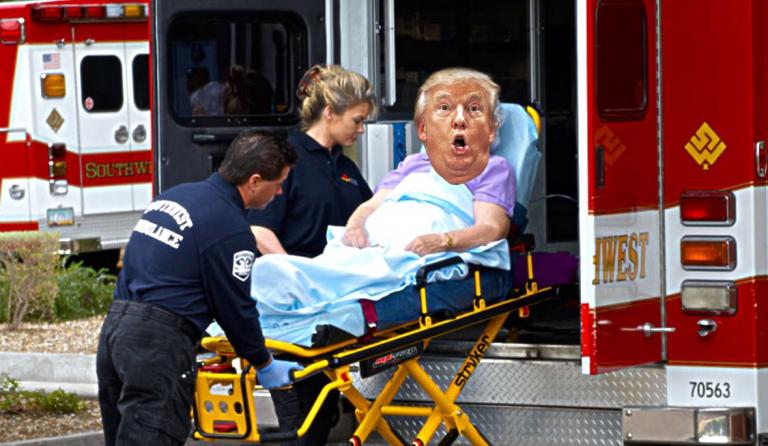 President Trump Admitted To Hospital After Watching Telemundo