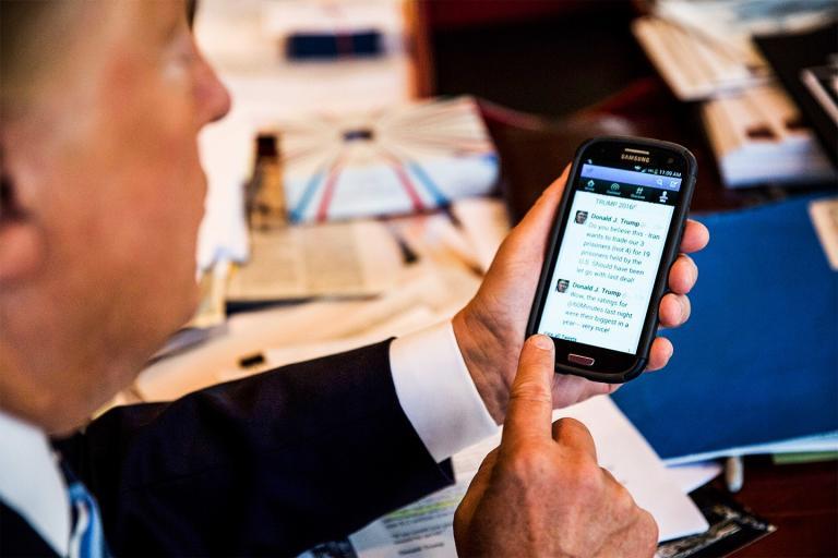 Trump tweets.