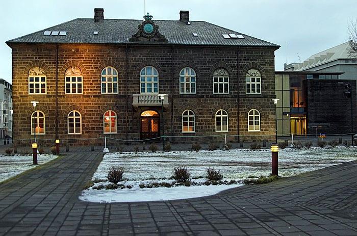 Iceland's parliament building.