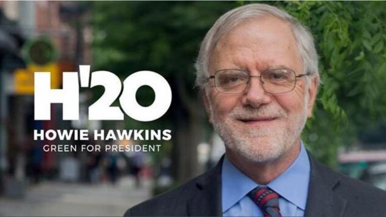 Howie Hawkins is running to be President .