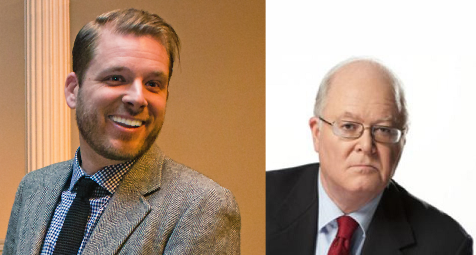 Andrew Seidel (left) of FFRF squares off with Bill Donohue (right) of the Catholic League. We thought atheists were supposed to be the angry ones.....