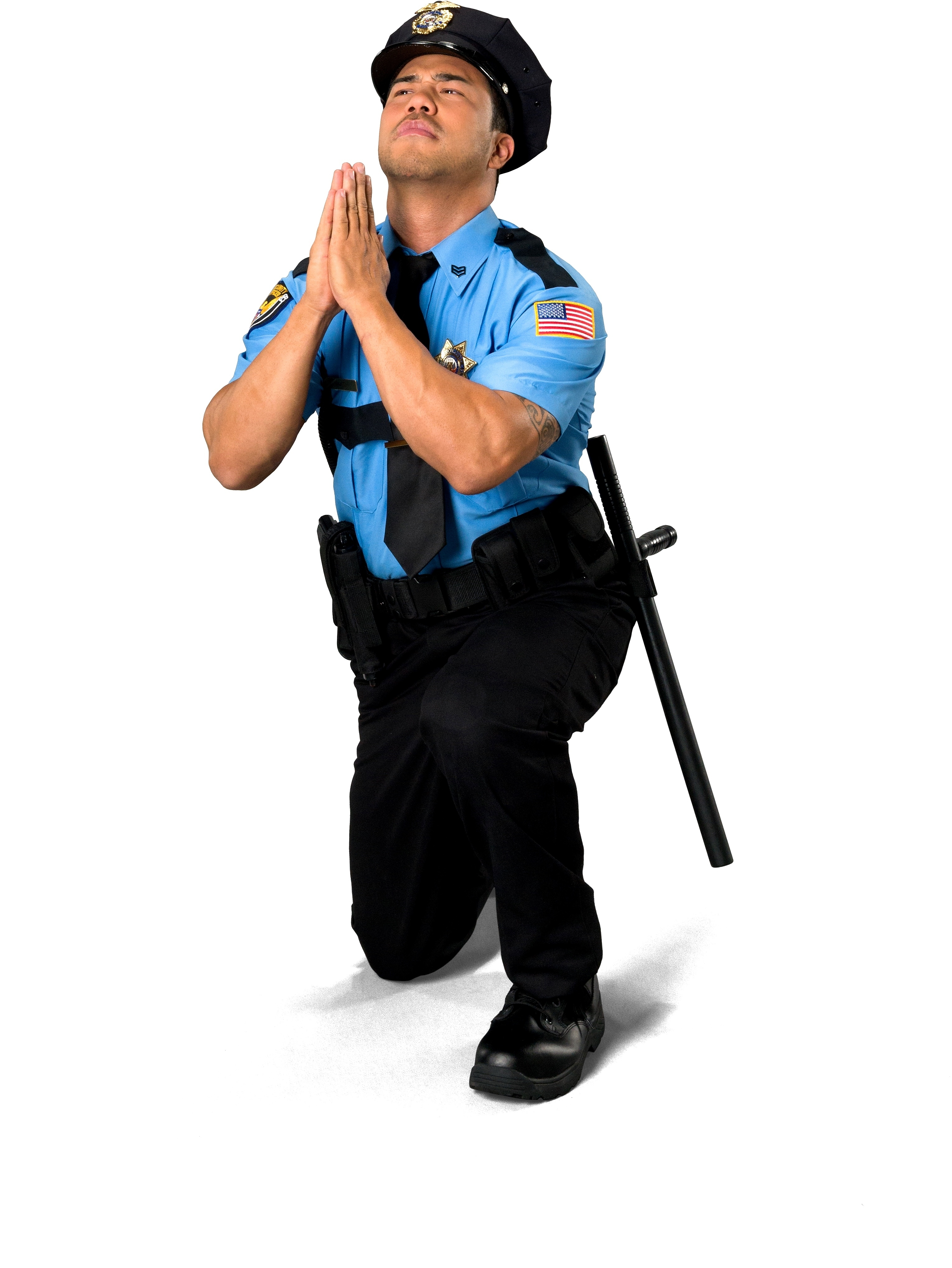 Sheriff Allen should consider spending less time in this pose and more time protecting all citizens, including atheists. LifetimeStock/Shuttestock.com