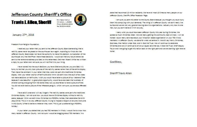 Sheriff Travis Allen full letter, in the original resolution he posted.