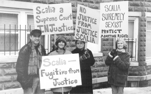 Protesting Scalia. Photo by FFRF.