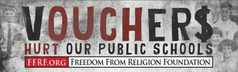 FFRF's voucher billboard