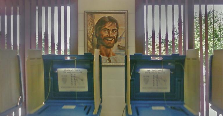 Jesus is watching you . . . vote.
