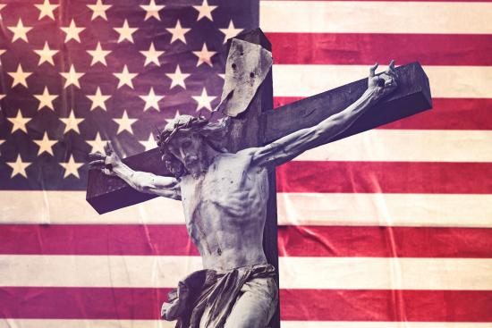 Piety and patriotism never mix well. Religion suffocates dissent, our Constitution enshrines it. Image via Shutterstock/Igor Stevanoic