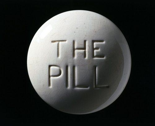 L0059976 Model of a contraceptive pill, Europe, c. 1970