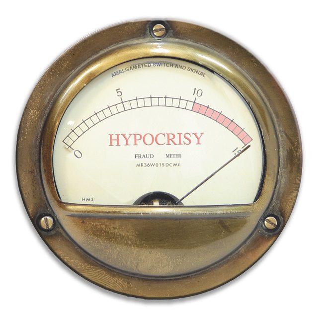 Hypocrisy Meter, Pegged