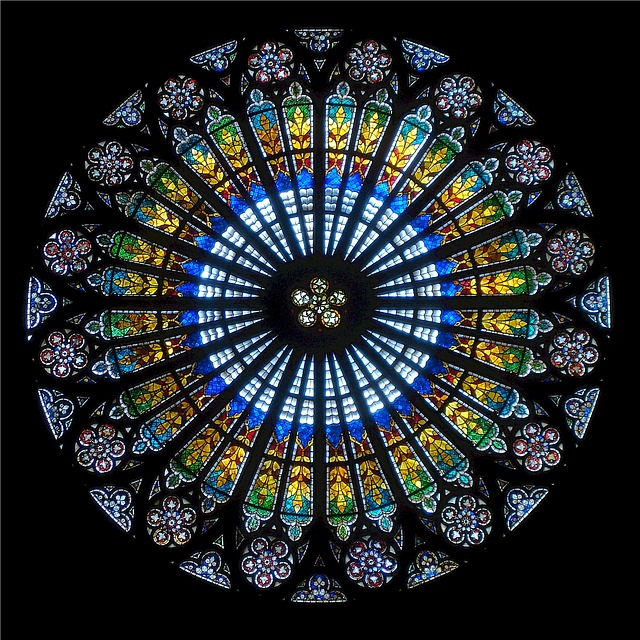 France Rose Window Strasbourg Cathedral Strasbourg