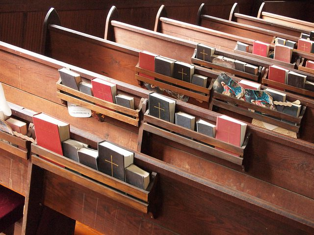 Bibles and Hymnals. Photo by William.