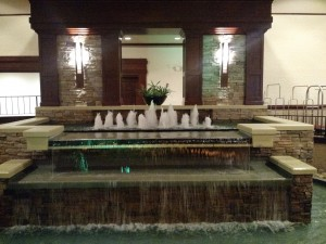 The lobby at ConVocation is fancy. Also, so much water! I am used to California drought and water conservation.