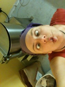 At my chocolate company. I have a lot of goofball pictures from that time.