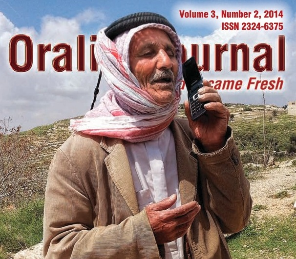 Orality Journal Cover Sept 2014