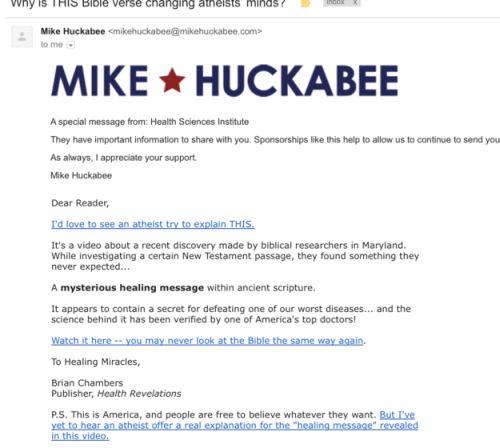 huckabee scam
