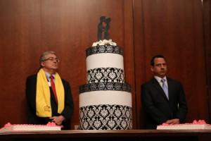 A cake to celebrate the 10 year anniversary of Texas's gay marriage ban. A banner day for Jesus!