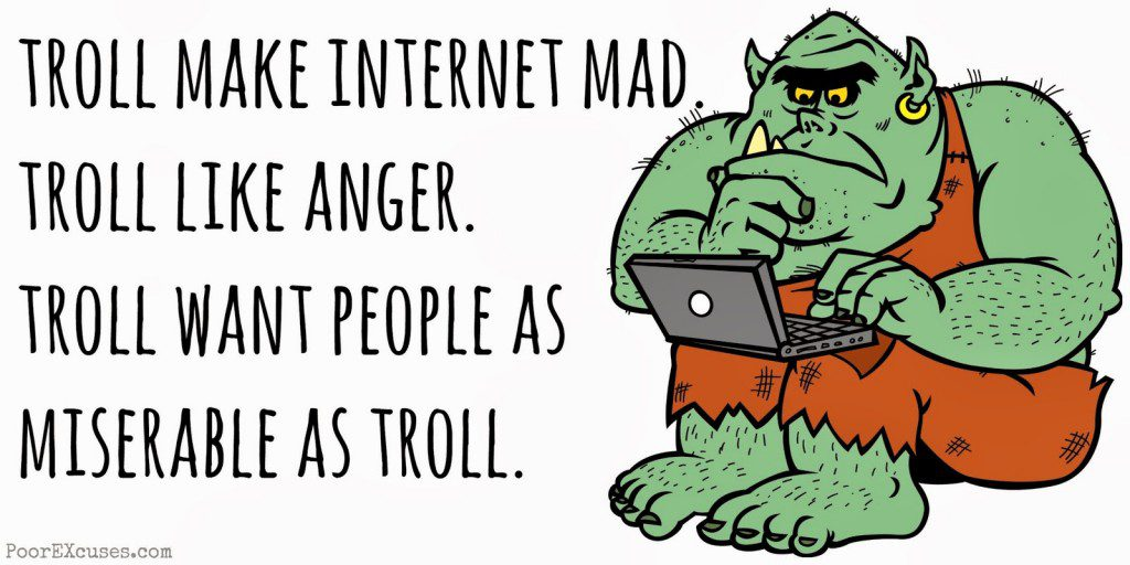 """Image from an article entitled, """"New Media Activism and Racist Internet Trolls"""" from the blog New Media Against Racism."""