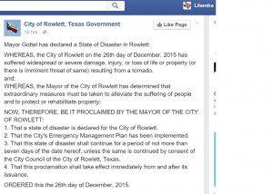 Rowlett state of emergency