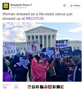 Tweet from the March 2nd rally during SCOTUS hearings on HB2