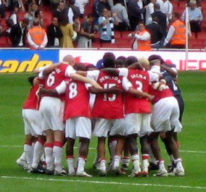 team huddle - cropped