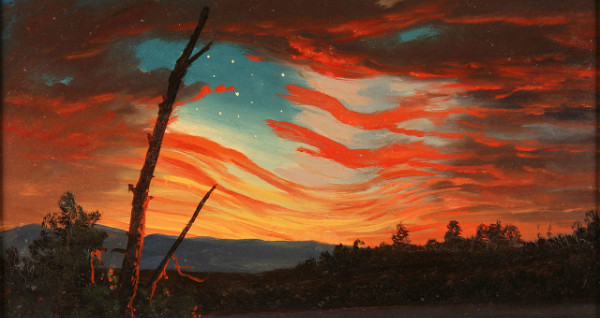 """""""Our Banner in the Sky"""" by Frederic Edwin Church.  From WikiMedia."""