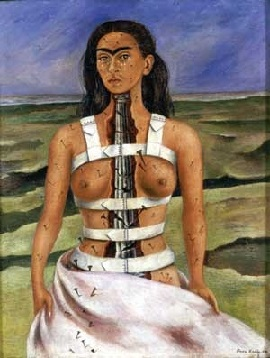 Replace 81 The_Broken_Column, Frida Kahlo, Image.  Wiki page for The Broken COlumn