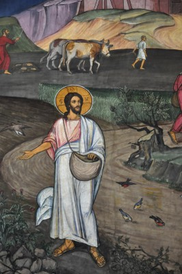 Pentecost 6, Sower went out to Sow, Mural, Brasov, Romania