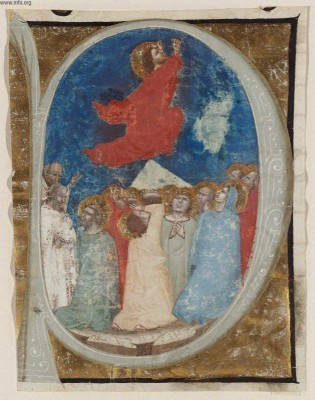 Ascension - MFA Boston, Bologna, Niccolo di Giacoma da, 1350-1400 ms illumination