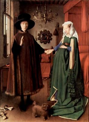 Replace 27 Jan van Eyck, 1434, The Wedding, National Gallery, London, Vanderbilt