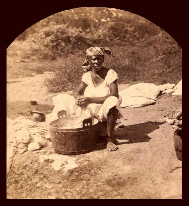 Pentecost 9  Our Washerwoman, Photo of Louisiana slave - 1860-1900