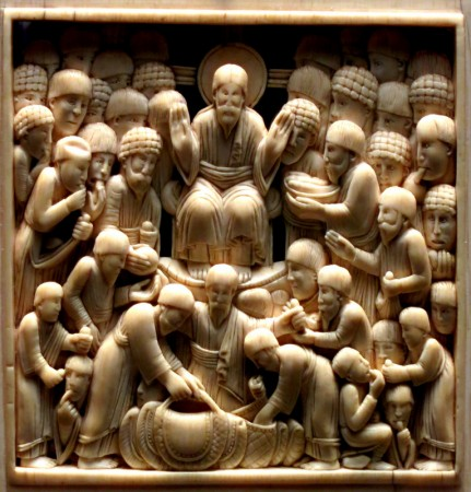 Pentecost 13 Feeding of the THousands, Approx 968 ad, Ottonian Master, Ivory, The Louvre, Paris